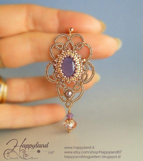 Agra  tatted earrings OOAK by Happyland87 on Etsy