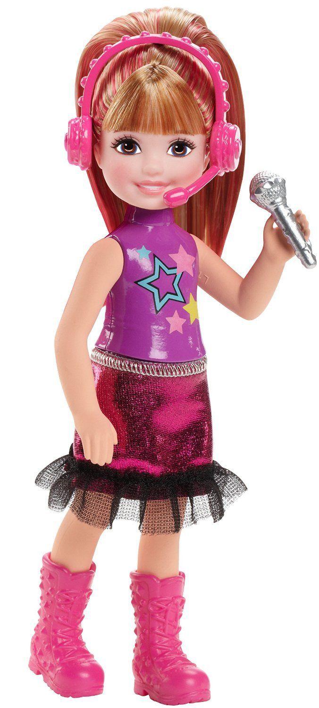Кукла Barbie ( Кукла Барби ) Рок-Принцесса Челси в фиолетом топе и малиновой юбке   Barbie.Ru   Барби в России