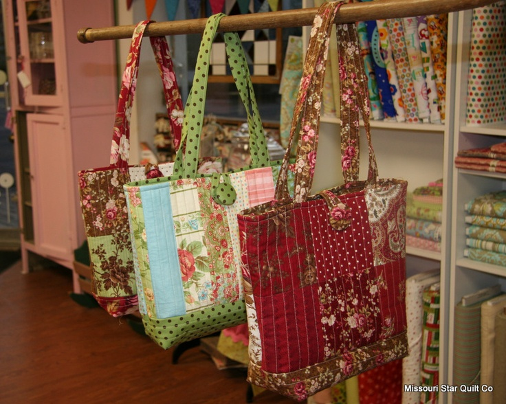 Free Pattern for the Easy Quilted Tote Bag…(as promised)