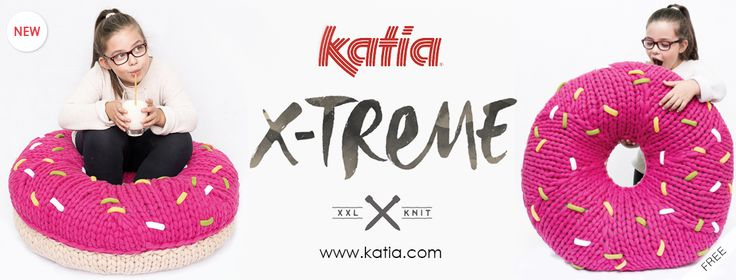 Here at Katia we can't get this XXL donut out of our heads either. It's giant, soft and spongy! The secret of this sweet pouf is in the Katia X-Treme.