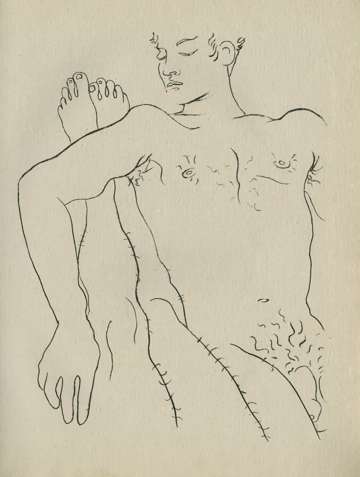 in Querelle de Brest, (1947) by Jean Genet, published by Paul Morihien, including 29 drawings by Jean Cocteau.