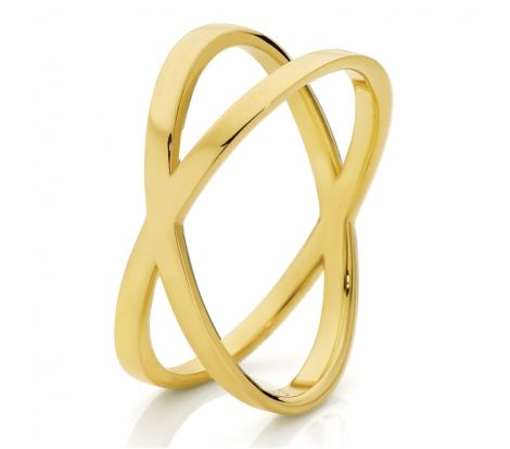 Gold cross ring - perfect for your everyday casual look.  9ct Yellow Gold Cross My Heart Ring.