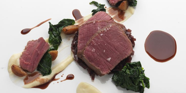 A slow-cooked beef recipe is given a twist by renowned chef Daniel Clifford. Confited garlic and shallot marmalade ensure the tender beef is well accompanied