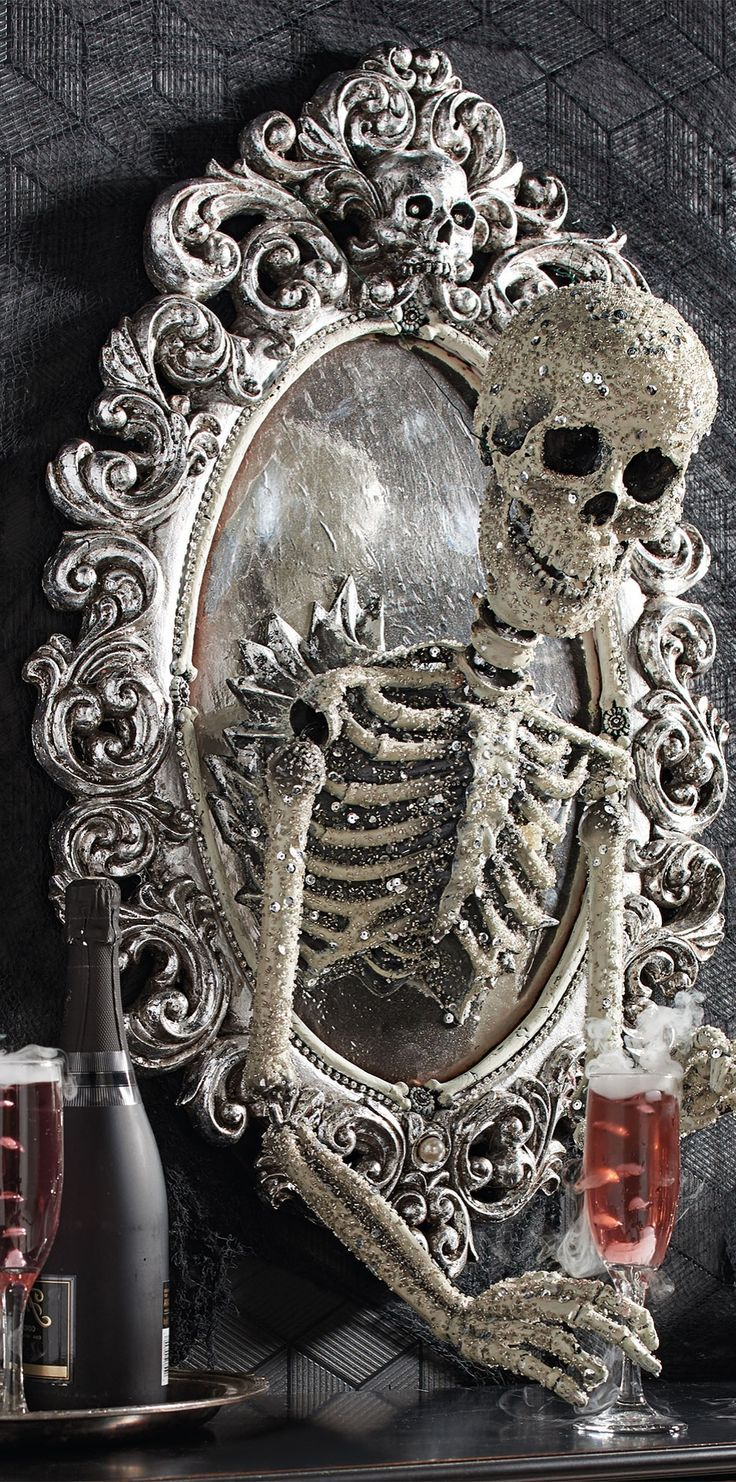 Sorceress Skull Framed Mirror  from Katherine s Collection   Halloween  Haven by Grandin Road1044 best halloween images on Pinterest   Halloween ideas  . Martha Stewart Halloween Costumes Grandin Road. Home Design Ideas