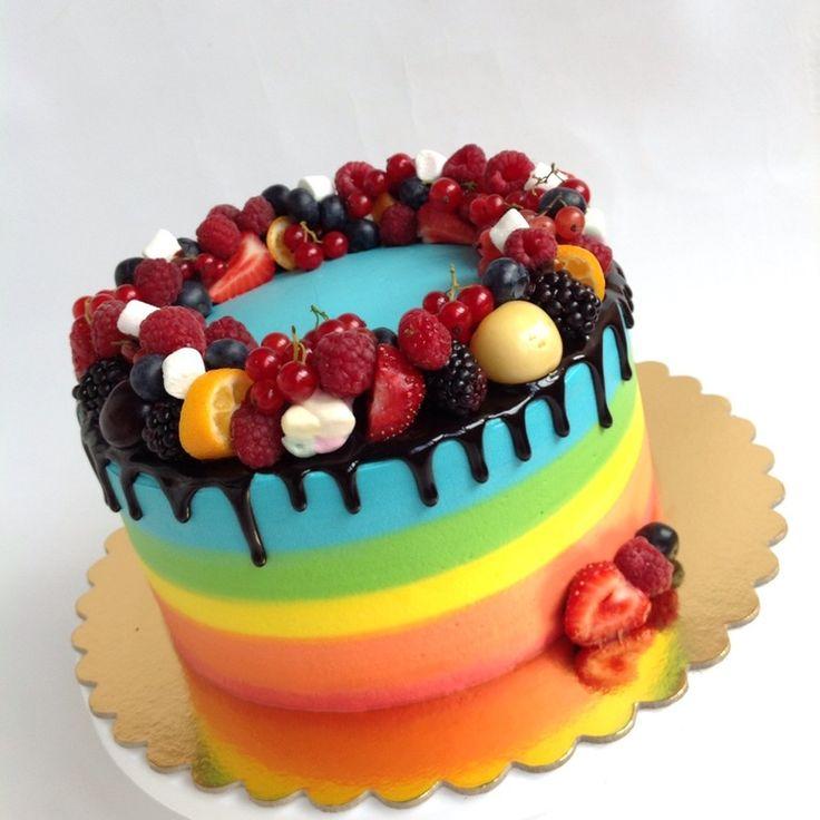 Радужный торт от пользователя «len_794» на Babyblog.ru