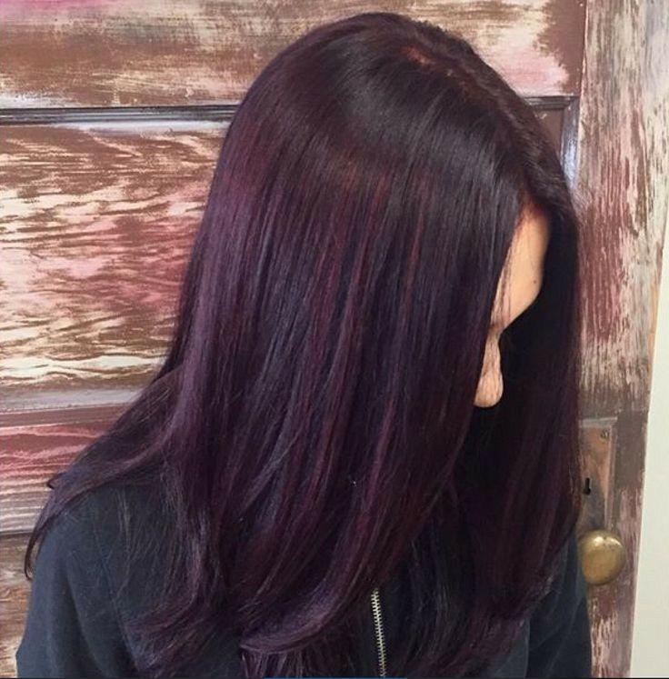 Purple tint | Hair tint, Hair color plum, Plum hair