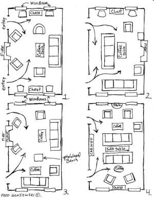 12 different ways to arrange furniture in a long narrow living room! @Abby Dalton ...thought of you! by linda