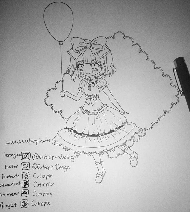 . #wip . I decided that I draw something cute :D I hope it will look good at the end :S This are just the outlines. . I have written all my accounts down and my website ... You can visit me if you like ;) but the most active account is this one xD . ~~~~~~~~~~~~~~~~~~~~~~~~~ #cutiepixdesign #cutiepix #anime #manga #animedraw #animedrawing #animeart #animedoodle #animegirl #animecute #animecutegirl #animechibi #chibi #chibidrawing #outlines #workinprogress #kawaii #kawaiigirl #otaku…