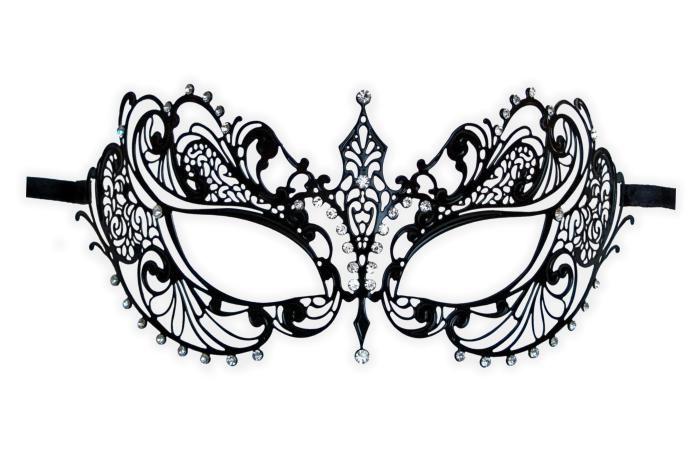 Lace Masquerade Mask Template   Intricate Masquerade Mask Template Venetian metal mask 'anisia'
