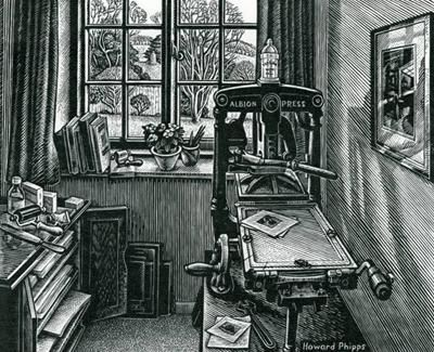 The Print Room by Howard Phipps, Wood Engraving