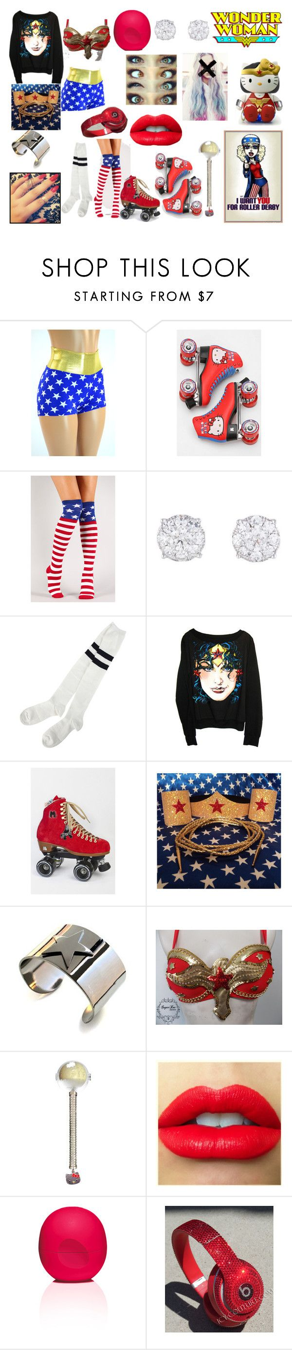 Dukes roller shoes -  Roller Skating Wonder Woman By Mokatinker0120 Liked On Polyvore Featuring Hello Kitty