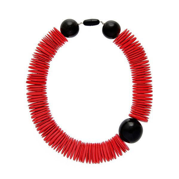 FRANÇOISE IBERL Red Sticks African Necklace