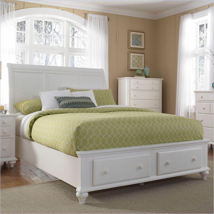 Broyhill Hayden Place Panel Storage Bed in White - 4649-SleighStorageBed