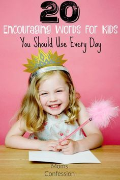 Encouraging words for kids are vital to their emotional health and life! Check out our top 20 encouraging words for kids to use every day to inspire them and build them up!