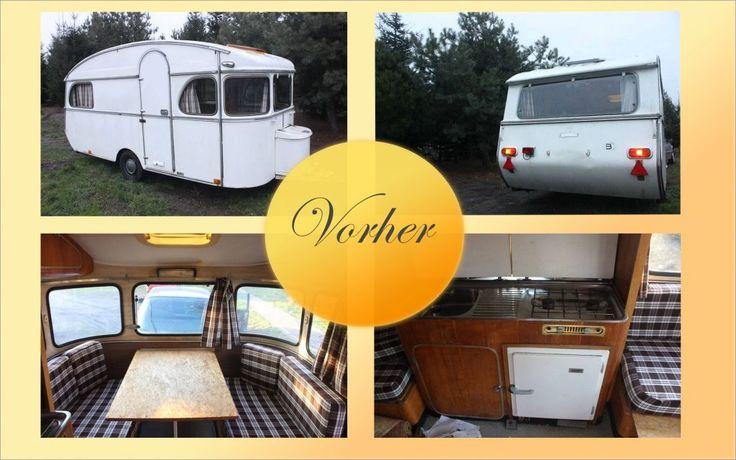 Caravanmakeover  Vorher / Nachher Before / After  Constructam Comet5  Baujahr 1970 Restauriert von Vintage-Caravan.de  #Caravan #makeover #Constructam