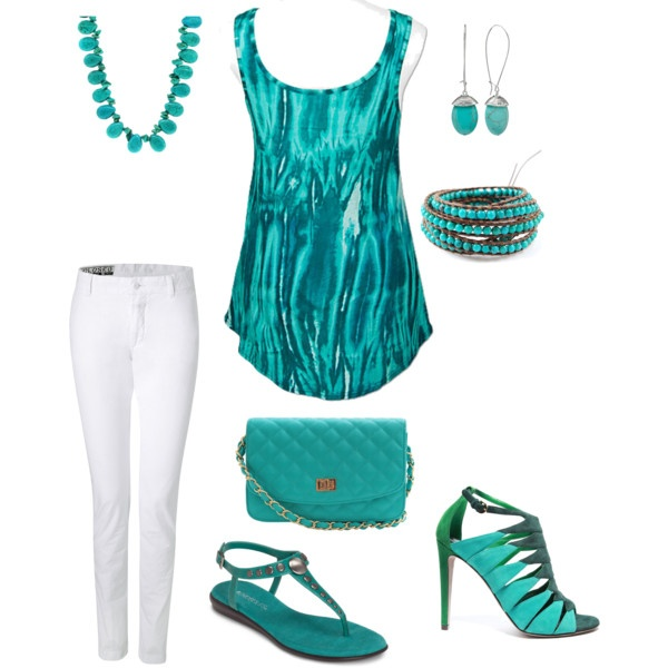 Love this color, created by donna-williams-burgess.polyvore.com, turquoise