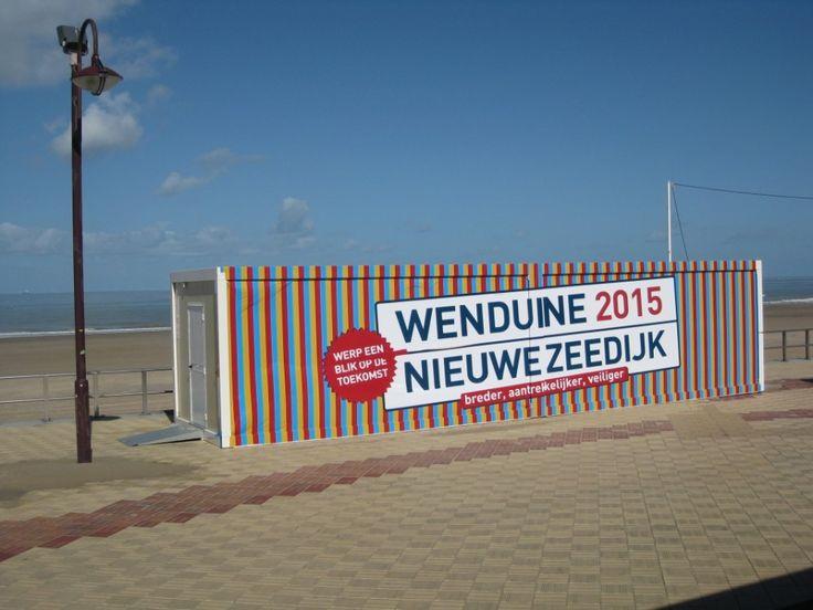 Stand d'information nouvelle digue Wenduine  Heures d'ouverture:  Jeudi, vendredi et samedi de 14 à 18 heures.  Pendant les vacances d'été: ouvert tous les jours de 14h à 18h sauf le dimanche et les jours fériés.