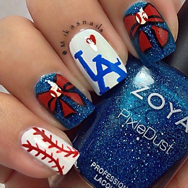 Es Nail Los Angeles: Mikasnails Los Angeles Dodgers #nail #nails #nailart