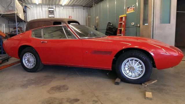 This 1967 Maserati Ghibli is a matching numbers car that has had much of the restoration work done and needs completing. Red with new tan leather interior and a rare factory automatic gearbox. It comes partially restored and would be a great car to easily finish. The engine has been rebuilt and the car comes complete.    Chassis No: AM115/176 Price: $159,500 #1967MaseratiGhibli #MaseratiGhibli #Ghibli #Maserati