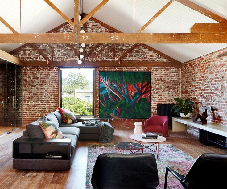 Mixed materials, considered colour choices and clever design transform this lofty Melbourne warehouse into a warm & welcoming abode.