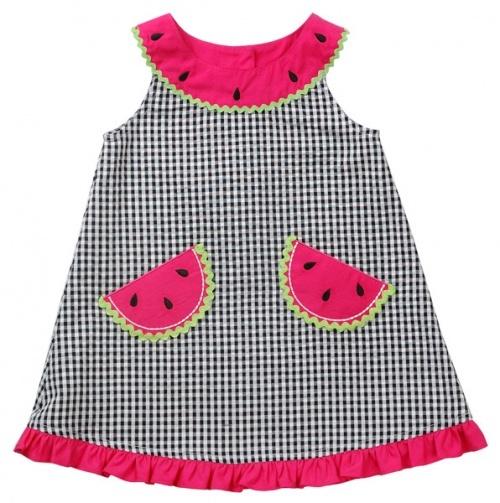 Newborn Watermelon Gingham Sundress and Panty