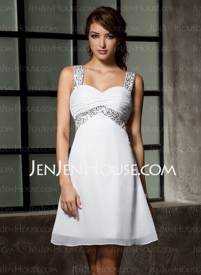 Homecoming Dresses - $96.49 - A-Line/Princess Sweetheart Short/Mini Chiffon Homecoming Dress With Ruffle Beading (022020867) http://jenjenhouse.com/A-Line-Princess-Sweetheart-Short-Mini-Chiffon-Homecoming-Dress-With-Ruffle-Beading-022020867-g20867
