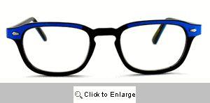 Alex Narrow Wayfarer Reading Glasses - 323 Black/Blue