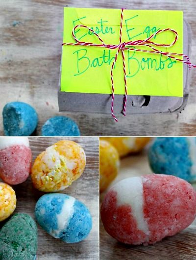 How to Make Wonderful, Colorful Easter Egg Bath Bombs (nice project to do with kids too)