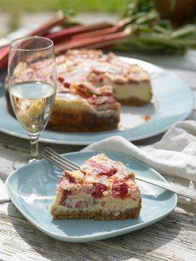 Bagt rabarber-ostekage | Cheesecake