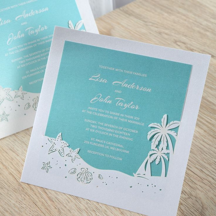 wedding invitations peacock theme%0A The perfect beach wedding invites   weddinginvitations  beach  tropical   destinationwedding  palmtrees