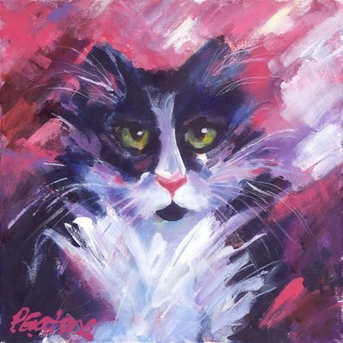 "Daily+Paintworks+-+""Mr.+Tux""+-+Original+Fine+Art+for+Sale+-+©+Pamela+Gatens"