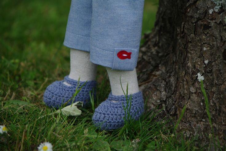 chaussons de poupée au crochet