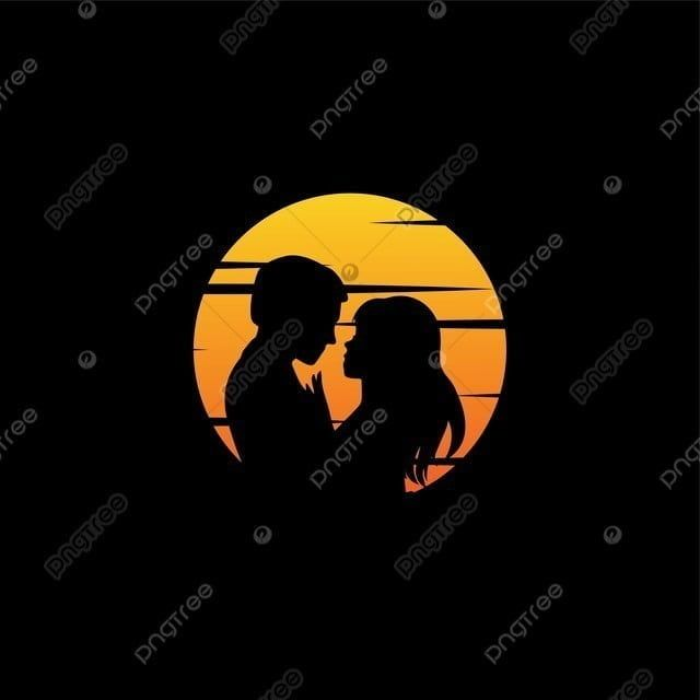 Wedding Logo Romantic Sunset Sweet Travel Honeymoon Couple Couple Silhouette Sunset Png And Vector With Transparent Background For Free Download Romantic Sunset Wedding Logos Romantic Background
