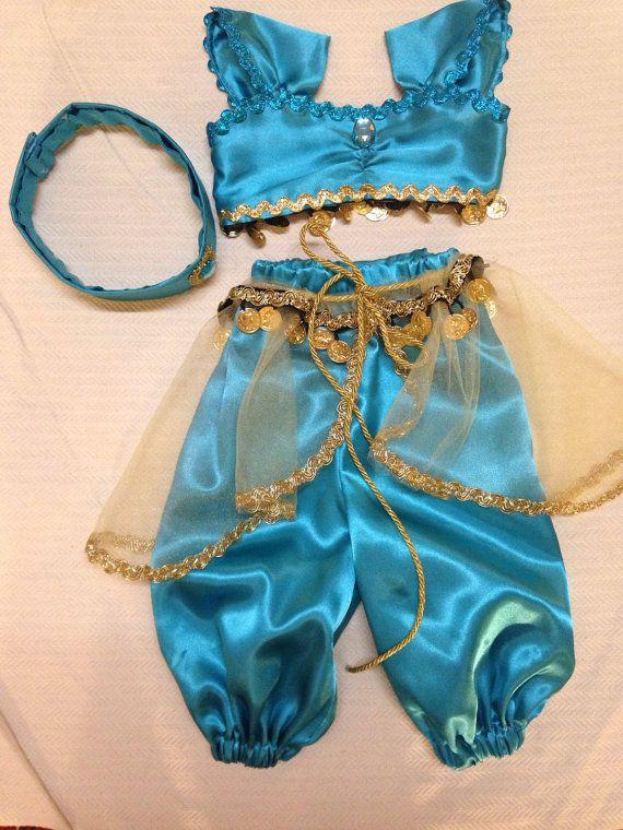 Disney BABY Princess Jasmine Outfit Custom by BrownsThreadWorks