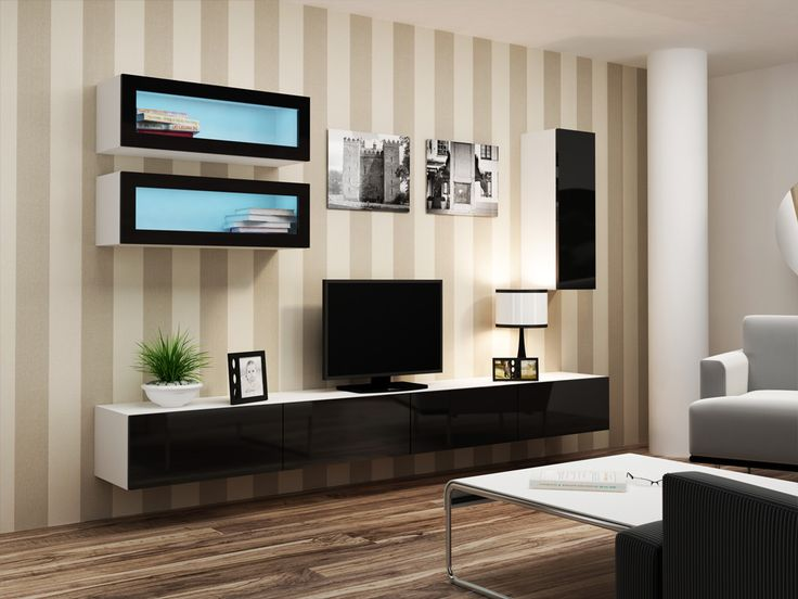 modern spaces for rukle cabinet wall room units lcd interior of rooms tv unique living design