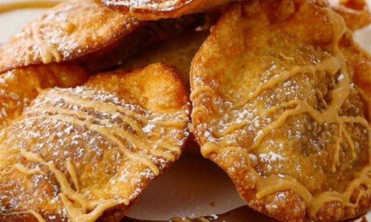 Ce que renferment ces won ton frits vous mènera directement au 7e ciel! Un dessert pratiquement trop bon!