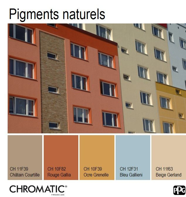34 best chromatic en facade images on pinterest facade for Nuancier couleur facade