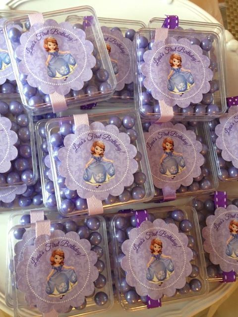 Favors at a Sofia the First Party #sofiathefirst #partyfavors