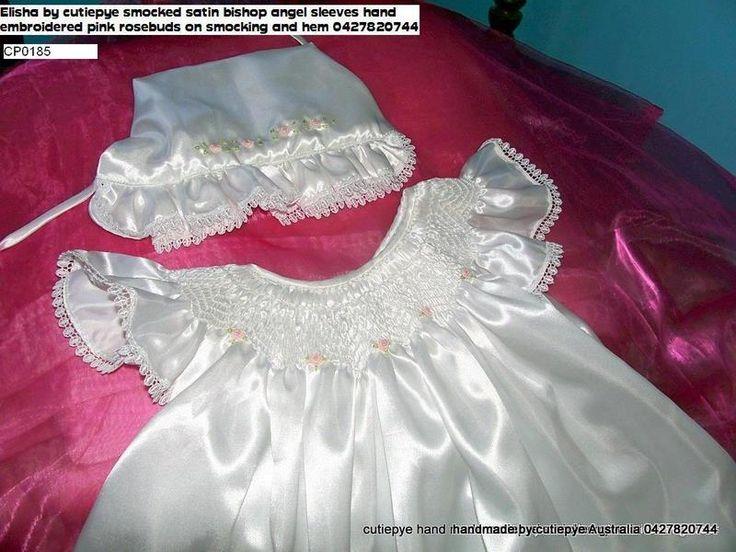 bishop smocked angel sleeves gown 0427820744