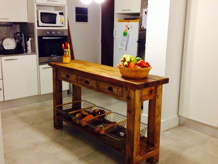 Mejores 21 im genes de islas de cocina by antigua madera for Mesa apoyo cocina