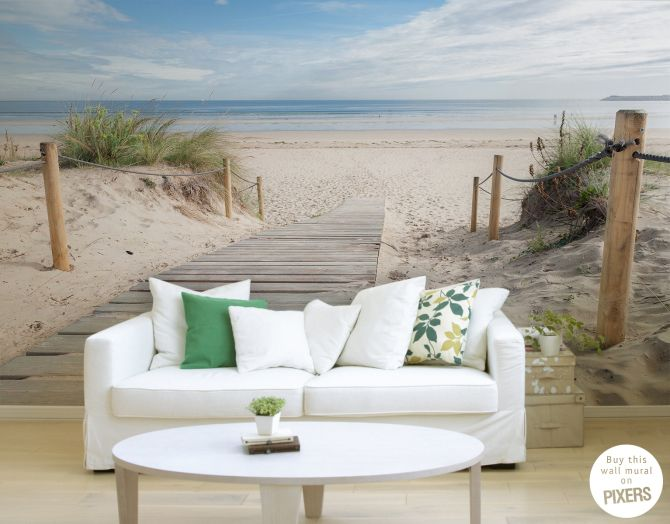 Beach U2022 Living Room   Contemporary U2022 Pixers® U2022 We Live To Change. Beach Wall  MuralsHome ... Part 25