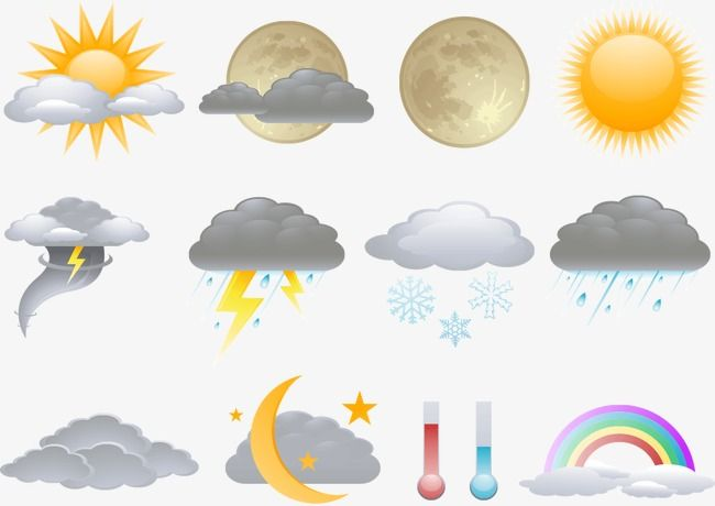 Weather Icon, Weather Clipart, The Weather, Weather Forecast PNG and Vector  with Transparent Background for Free Download | Weather clipart, Weather  icons, Vector free