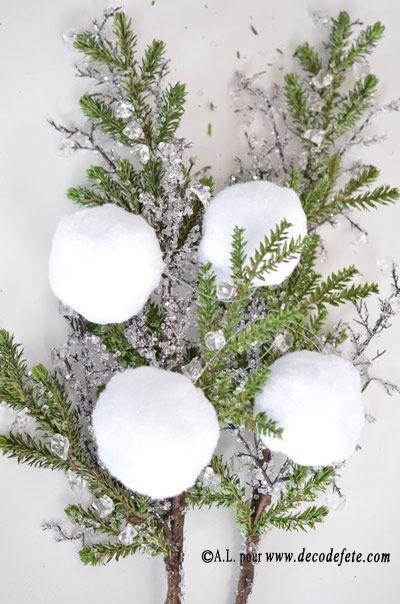 1 guirlande boules de neige blanche 78cm serum nature and http. Black Bedroom Furniture Sets. Home Design Ideas