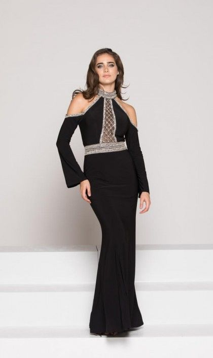 Colors Dress 1962 Cold Shoulder Long Sleeve Gown In 2018 Trends Of