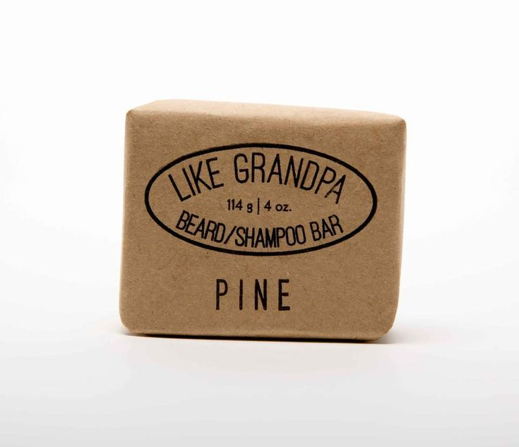 Like Grandpa's Shampoo and Beard Bar comes in two deliciously classic scents: Spearmint and Pine.   Generic soap will dry your face out and cause itching and irritation. Don't be that guy!  Pictured here: PINE