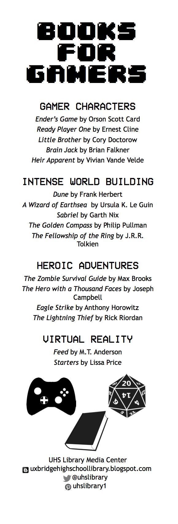 Bookmark: Books for Gamers
