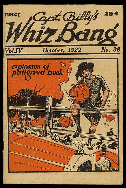 vintage halloween magazine capt billys whiz bang october - Halloween Magazines