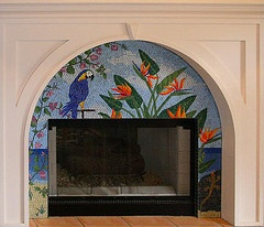 Tropical Fireplace Surround by Jacqueline Iskander #EasyNip