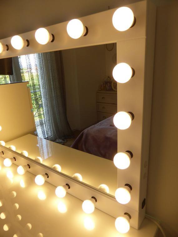 XL Hollywood vanity mirror | Etsy