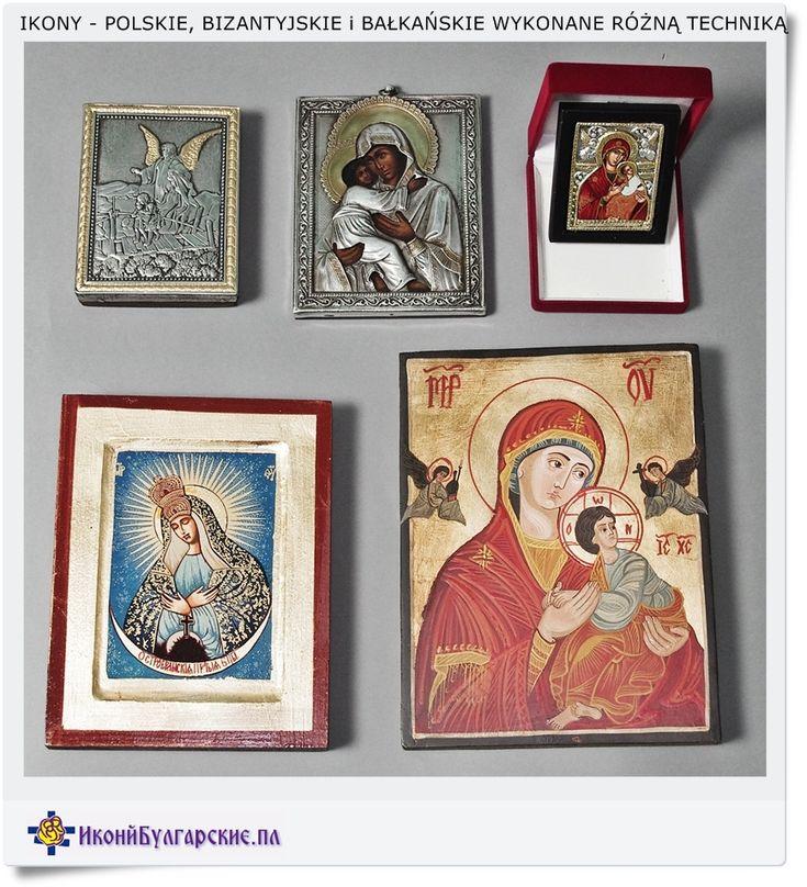 Ikony świętych wykonane różnymi technikami